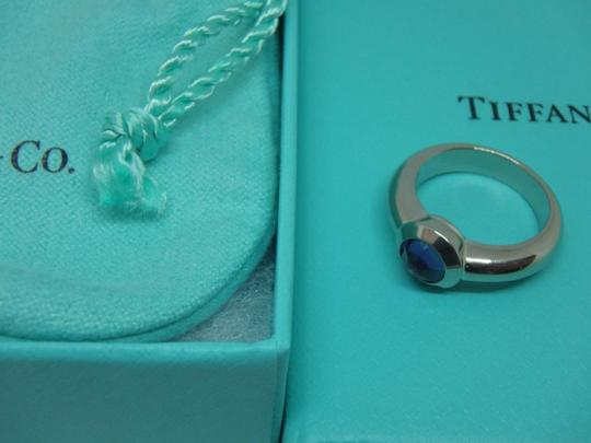 Tiffany & Co. France Bullet Shape Iolite 18k White Gold Solitaire Ring Image 1