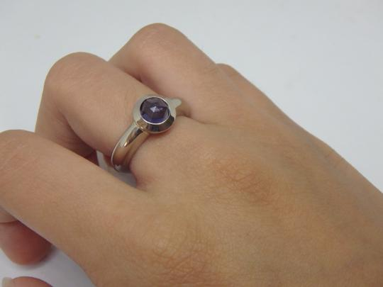 Tiffany & Co. France Bullet Shape Iolite 18k White Gold Solitaire Ring Image 2