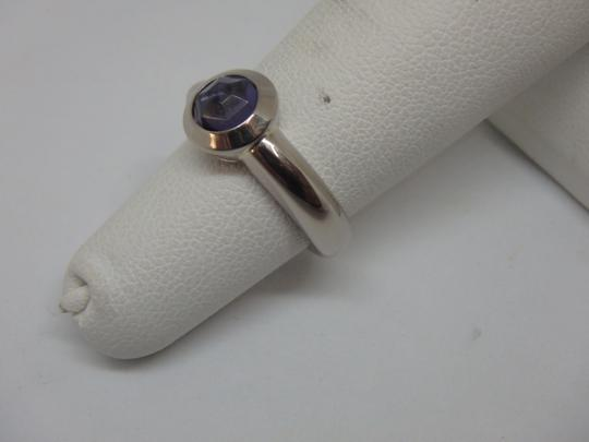 Tiffany & Co. France Bullet Shape Iolite 18k White Gold Solitaire Ring Image 3
