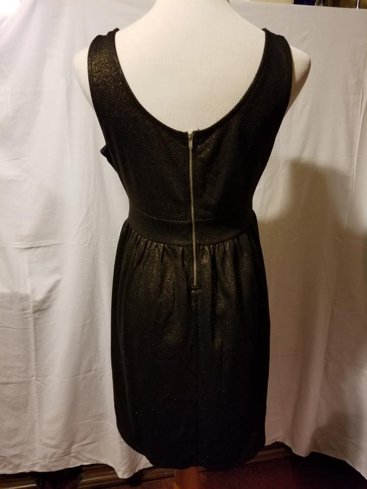 Forever 21 Black Gold Party Formal Night Out Dress