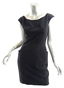 agnes b. short dress Black Microfiber Hip Pockets on Tradesy