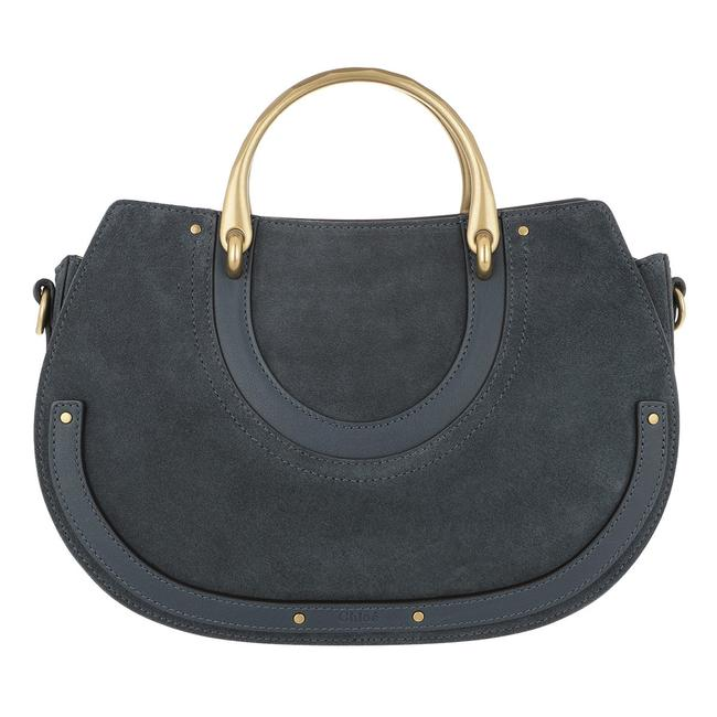 Item - Pixie Use Extra 100 Off Coupon Medium Silver Blue Convertible Calfskin Leather Cross Body Bag