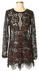 Free People Longsleeve Lace Embroidered Dress