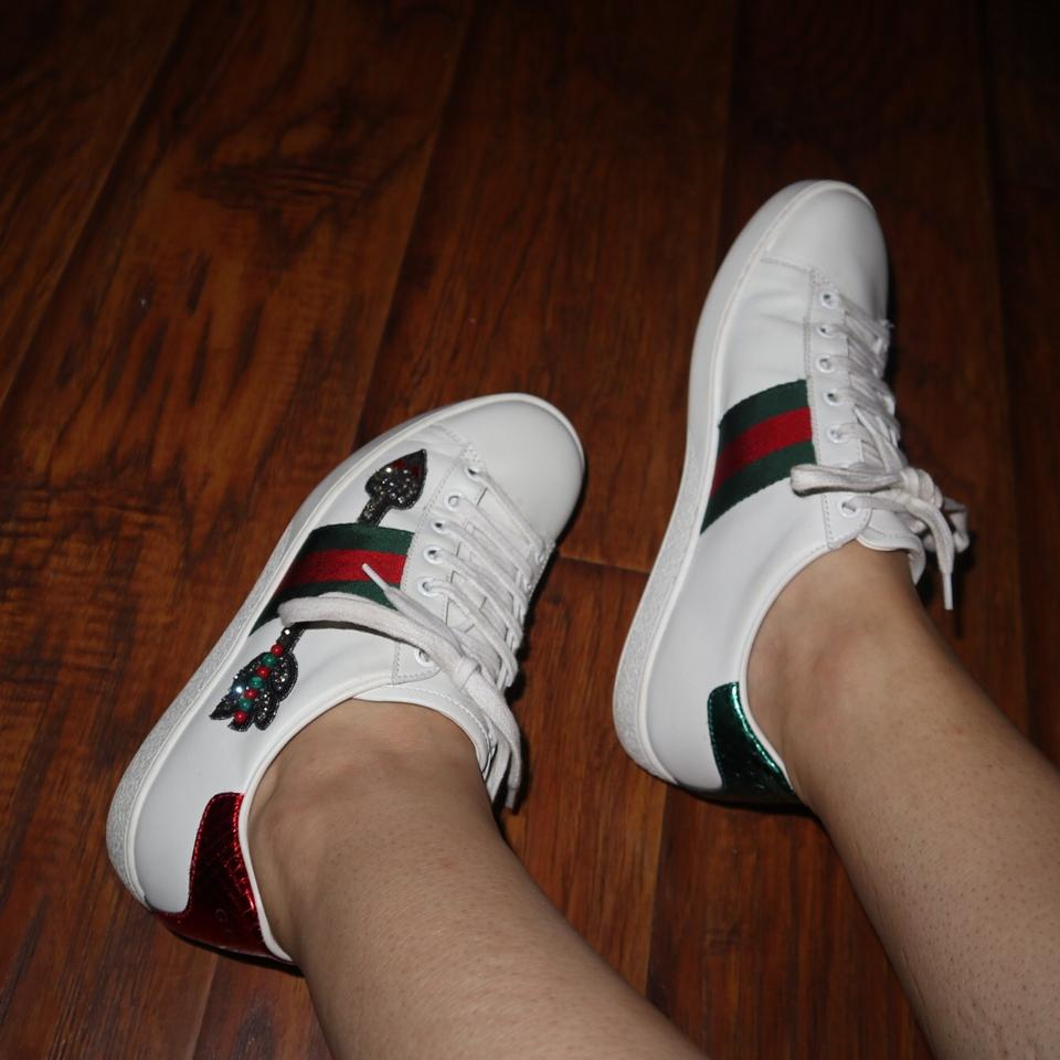 bb9429d96 Gucci White Bleeding Arrow Ace Sneakers Sneakers Size US 7 Regular ...