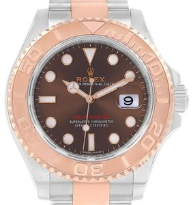 Rolex Rolex Yachtmaster Everose Gold Steel Chocolate Dial Watch 116621
