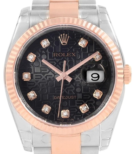 Preload https://img-static.tradesy.com/item/23510950/rolex-black-datejust-36-steel-everose-gold-diamond-unisex-116231-watch-0-1-540-540.jpg