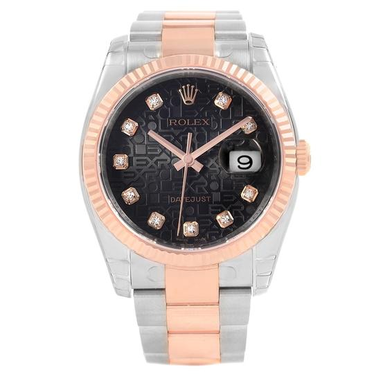 Rolex Rolex Datejust 36 Steel EveRose Gold Diamond Unisex Watch 116231 Image 1
