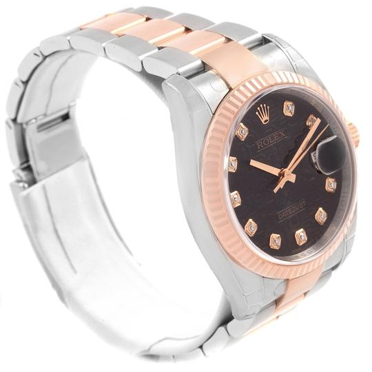 Rolex Rolex Datejust 36 Steel EveRose Gold Diamond Unisex Watch 116231 Image 2