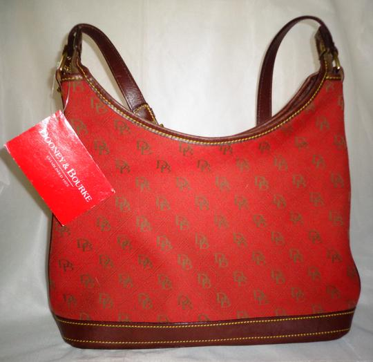 Dooney & Bourke Tote in Red/Brown Image 1