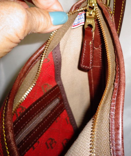 Dooney & Bourke Tote in Red/Brown Image 10