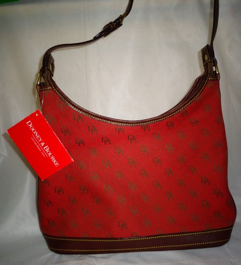 Dooney & Bourke Tote in Red/Brown Image 2