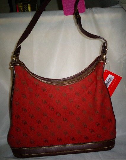 Dooney & Bourke Tote in Red/Brown Image 3