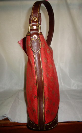 Dooney & Bourke Tote in Red/Brown Image 4