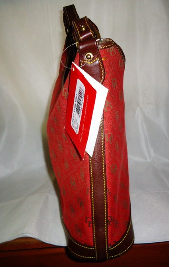 Dooney & Bourke Tote in Red/Brown Image 5