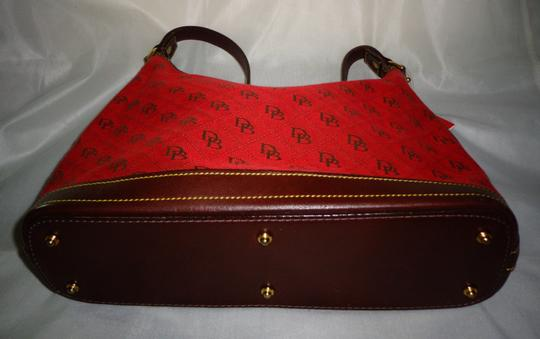 Dooney & Bourke Tote in Red/Brown Image 6