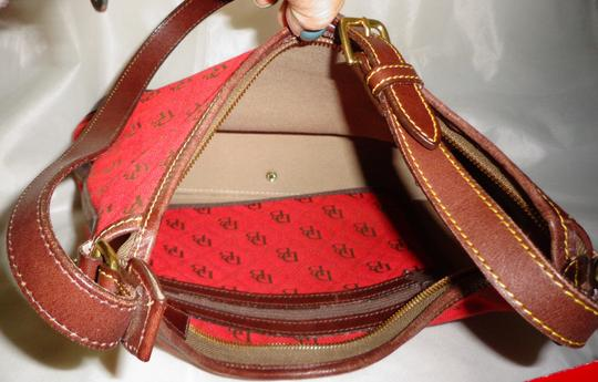 Dooney & Bourke Tote in Red/Brown Image 7