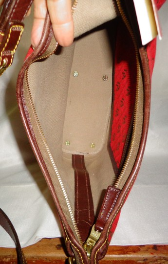 Dooney & Bourke Tote in Red/Brown Image 8