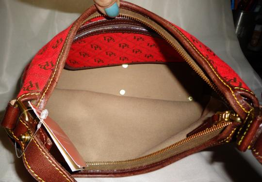 Dooney & Bourke Tote in Red/Brown Image 9