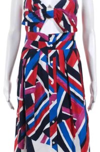 blue, red, white Maxi Dress by MILLY