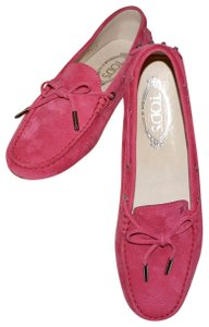 Tod's Moccasins Driving Made In Italy Loafer Pink Flats
