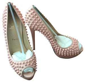 Christian Louboutin Stiletto Patent Sold Out Baby Pink/Baby Pink Spikes Pumps