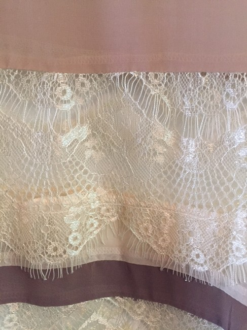 Unknown Lace Sheer Stripe Luxury Thin Top cream Image 2