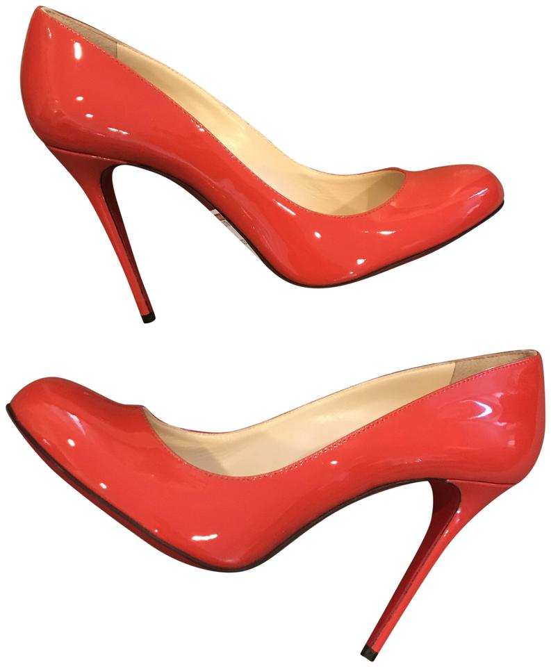 cheap for discount e05a3 c08aa Christian Louboutin Coral Fifi 100 Patent Leather Round Heels Pumps Size EU  38 (Approx. US 8) Regular (M, B) 16% off retail