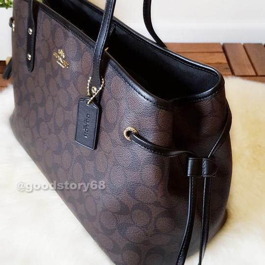 Coach Tote in Brown/Black Image 6