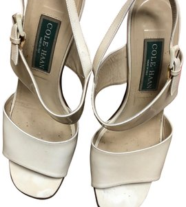 Cole Haan Antique Collectible Leather off white Sandals