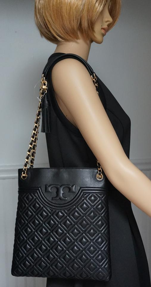 edfffee92c2 Tory Burch Fleming Swingpack In Quilted Black Leather Cross Body Bag -  Tradesy