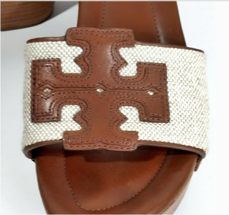 951c69ab51d4 Tory Burch Wedge Couture Leather Logo Sold Out New Brown and Beige Sandals  Image 7. 12345678. 1 ∕ 8