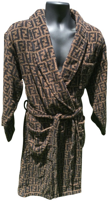 Item - Brown Zucca Logo Luxury Robe Activewear Size OS (one size)