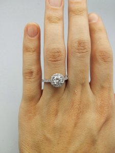 Ladies Diamond Engagement Egl Certified 1.65 Cts Total Ring