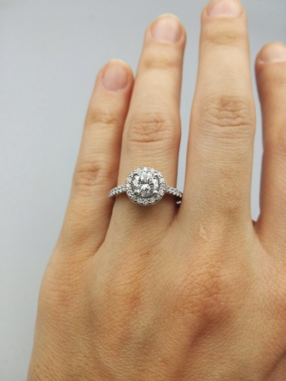 Ladies Diamond Engagement Egl Certified 1.65 Cts Total Ring Image 1