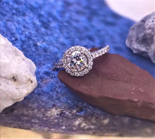 Ladies Diamond Engagement Egl Certified 1.65 Cts Total Ring Image 10