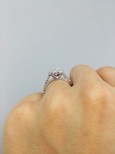 Ladies Diamond Engagement Egl Certified 1.65 Cts Total Ring Image 2