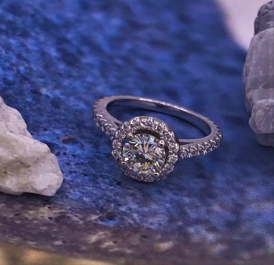 Ladies Diamond Engagement Egl Certified 1.65 Cts Total Ring Image 3