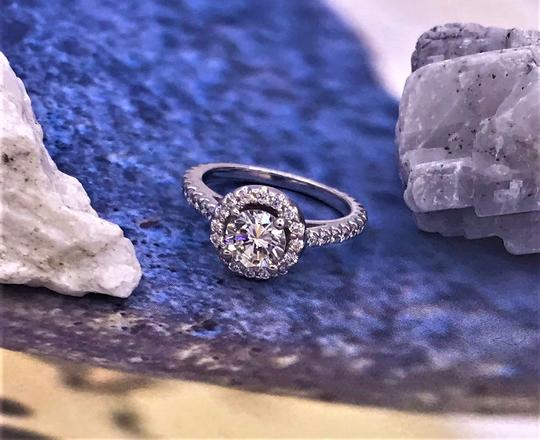 Ladies Diamond Engagement Egl Certified 1.65 Cts Total Ring Image 5