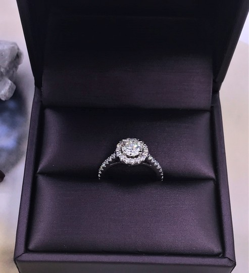 Ladies Diamond Engagement Egl Certified 1.65 Cts Total Ring Image 9