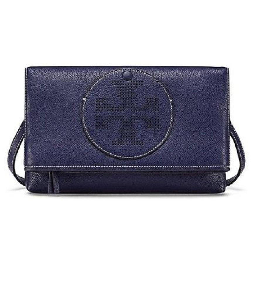 20bc6b01596 Tory Burch Convertible Perforated Logo Clutch Cross Body Bag Image 0 ...