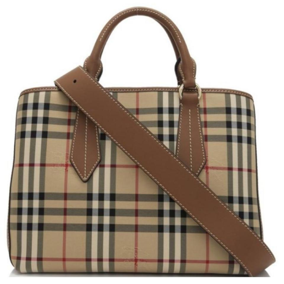 4801c60a48b3 Burberry Nwts Med Horse Ferry Check Contrast Stitch Ballingdon Tote ...