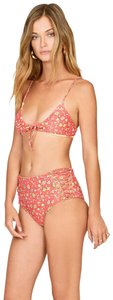 Amuse Society Bright red floral