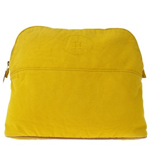 Hermès Made In France Yellow Clutch