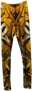 Alexander McQueen Printed Dragonfly Yellow Leggings