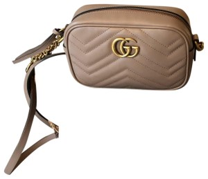 3f074c6a08fd Added to Shopping Bag. Gucci Shoulder Bag. Gucci Marmont Gg Mini Matelasse  Camera Nude ...