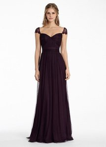 Jim Hjelm Plum 5555 Formal Bridesmaid/Mob Dress Size 12 (L)