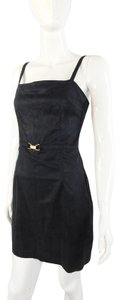 Todd Oldham Jeans Little Cocktail Faux Suede Crown Dress