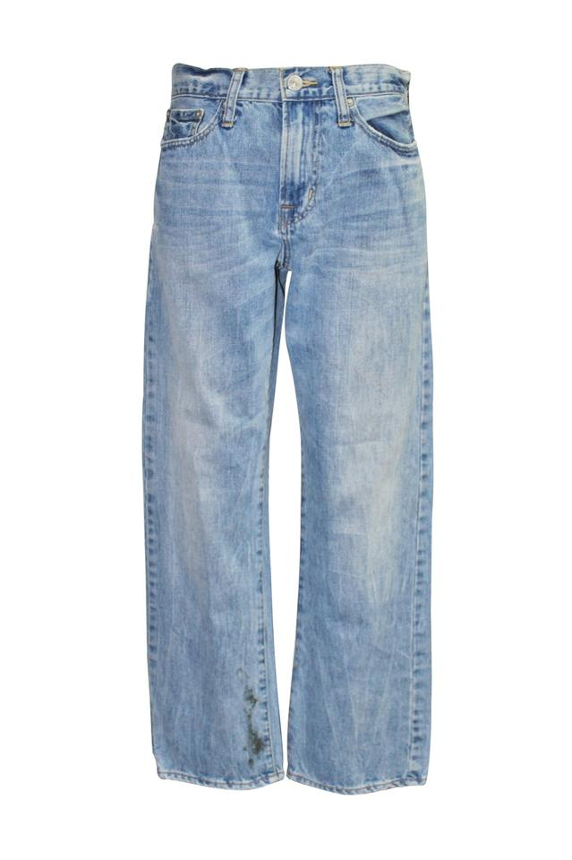 American Eagle Outfitters Faded Denim Distressed Straight Relaxed Fit Jeans  Size 29 (6, M) 59% off retail