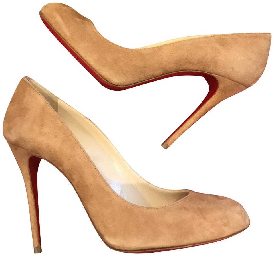 hot sale online b214f c0424 Christian Louboutin Camel Fifi 100 Suede Round Heels Pumps Size EU 37  (Approx. US 7) Regular (M, B) 31% off retail