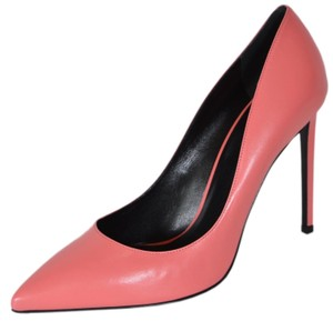 Saint Laurent Ysl Pink Leather Rose Clair Pumps